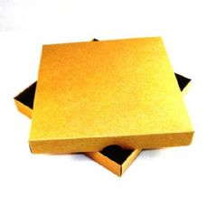 "9"" x 9"" Brown Kraft Invitation Boxes For Handmade Cards"